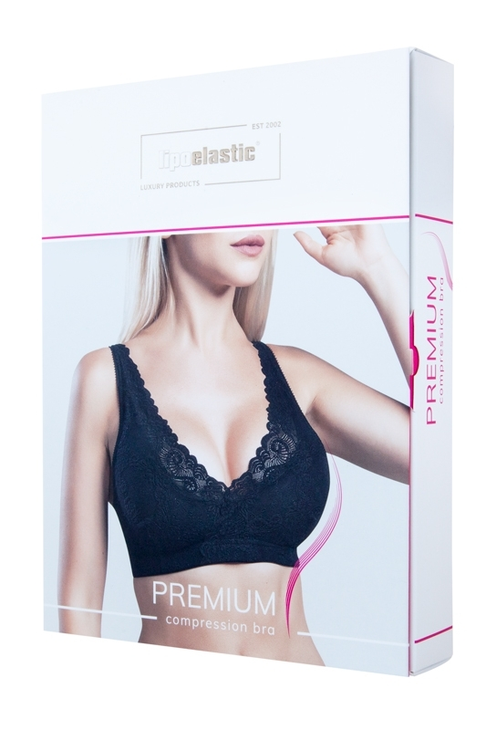 Sexy lace bra PI premium for post surgery recovery | LIPOELASTIC